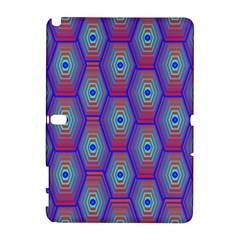 Red Blue Bee Hive Pattern Galaxy Note 1