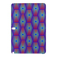 Red Blue Bee Hive Pattern Samsung Galaxy Tab Pro 10 1 Hardshell Case