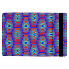 Red Blue Bee Hive Pattern Ipad Air Flip