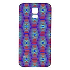 Red Blue Bee Hive Pattern Samsung Galaxy S5 Back Case (white)