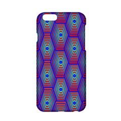Red Blue Bee Hive Pattern Apple Iphone 6/6s Hardshell Case