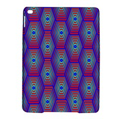 Red Blue Bee Hive Pattern Ipad Air 2 Hardshell Cases