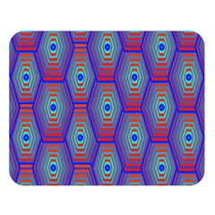 Red Blue Bee Hive Pattern Double Sided Flano Blanket (large)