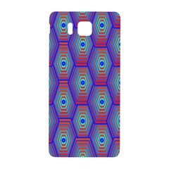 Red Blue Bee Hive Pattern Samsung Galaxy Alpha Hardshell Back Case