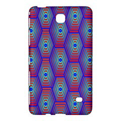 Red Blue Bee Hive Pattern Samsung Galaxy Tab 4 (7 ) Hardshell Case