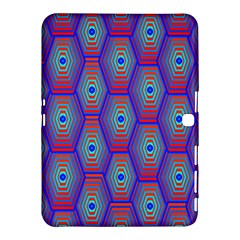 Red Blue Bee Hive Pattern Samsung Galaxy Tab 4 (10 1 ) Hardshell Case