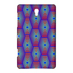 Red Blue Bee Hive Pattern Samsung Galaxy Tab S (8.4 ) Hardshell Case