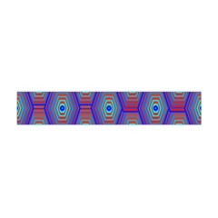Red Blue Bee Hive Pattern Flano Scarf (mini)