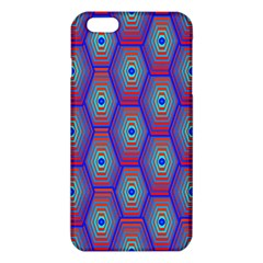 Red Blue Bee Hive Pattern iPhone 6 Plus/6S Plus TPU Case