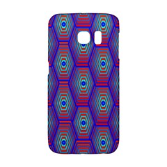 Red Blue Bee Hive Pattern Galaxy S6 Edge
