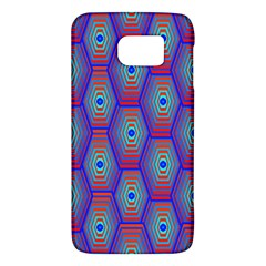 Red Blue Bee Hive Pattern Galaxy S6