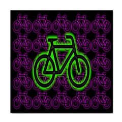 Bike Graphic Neon Colors Pink Purple Green Bicycle Light Tile Coasters