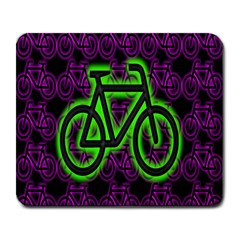 Bike Graphic Neon Colors Pink Purple Green Bicycle Light Large Mousepads