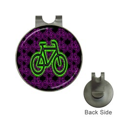 Bike Graphic Neon Colors Pink Purple Green Bicycle Light Hat Clips With Golf Markers