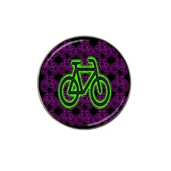 Bike Graphic Neon Colors Pink Purple Green Bicycle Light Hat Clip Ball Marker