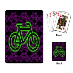 Bike Graphic Neon Colors Pink Purple Green Bicycle Light Playing Card