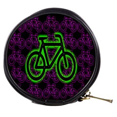 Bike Graphic Neon Colors Pink Purple Green Bicycle Light Mini Makeup Bags
