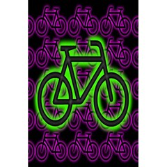 Bike Graphic Neon Colors Pink Purple Green Bicycle Light 5 5  X 8 5  Notebooks