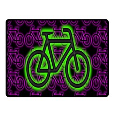 Bike Graphic Neon Colors Pink Purple Green Bicycle Light Fleece Blanket (small)