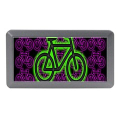 Bike Graphic Neon Colors Pink Purple Green Bicycle Light Memory Card Reader (mini)