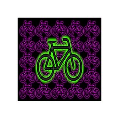 Bike Graphic Neon Colors Pink Purple Green Bicycle Light Acrylic Tangram Puzzle (4  x 4 )
