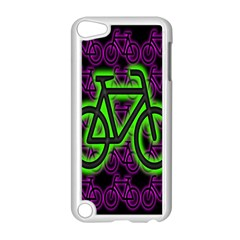 Bike Graphic Neon Colors Pink Purple Green Bicycle Light Apple iPod Touch 5 Case (White)
