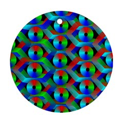 Bee Hive Color Disks Ornament (Round)