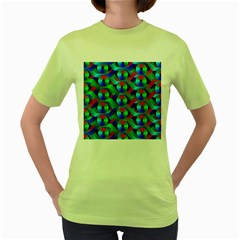 Bee Hive Color Disks Women s Green T-Shirt