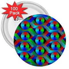 Bee Hive Color Disks 3  Buttons (100 Pack)