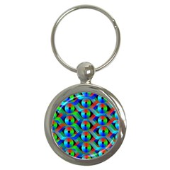 Bee Hive Color Disks Key Chains (round)
