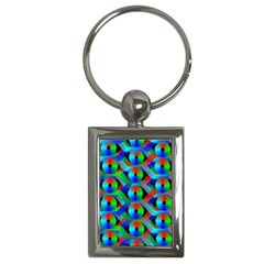 Bee Hive Color Disks Key Chains (rectangle)