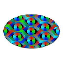 Bee Hive Color Disks Oval Magnet