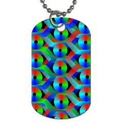 Bee Hive Color Disks Dog Tag (one Side)