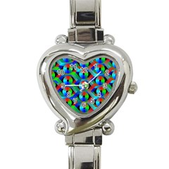 Bee Hive Color Disks Heart Italian Charm Watch
