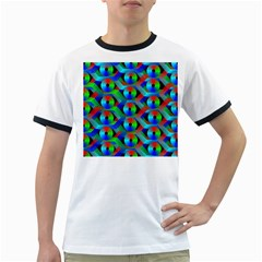 Bee Hive Color Disks Ringer T Shirts