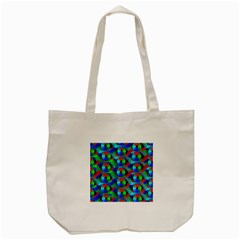 Bee Hive Color Disks Tote Bag (Cream)