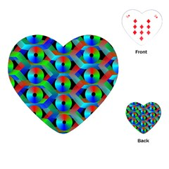 Bee Hive Color Disks Playing Cards (heart)