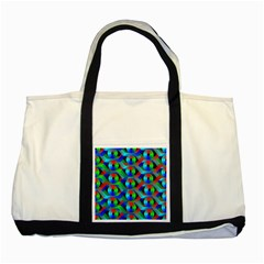 Bee Hive Color Disks Two Tone Tote Bag