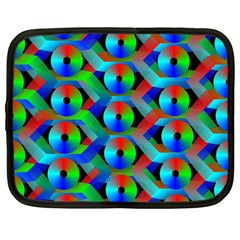 Bee Hive Color Disks Netbook Case (large)