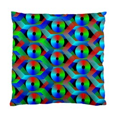 Bee Hive Color Disks Standard Cushion Case (two Sides)
