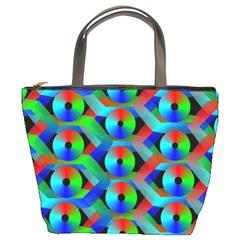 Bee Hive Color Disks Bucket Bags