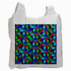 Bee Hive Color Disks Recycle Bag (two Side)