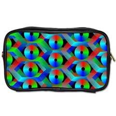 Bee Hive Color Disks Toiletries Bags 2 Side