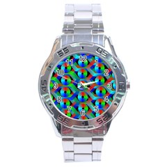 Bee Hive Color Disks Stainless Steel Analogue Watch