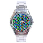 Bee Hive Color Disks Stainless Steel Analogue Watch Front