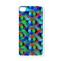 Bee Hive Color Disks Apple Iphone 4 Case (white)
