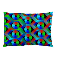 Bee Hive Color Disks Pillow Case (two Sides)