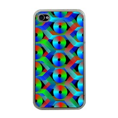 Bee Hive Color Disks Apple Iphone 4 Case (clear)