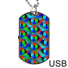 Bee Hive Color Disks Dog Tag USB Flash (One Side)