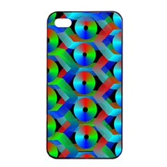 Bee Hive Color Disks Apple Iphone 4/4s Seamless Case (black)